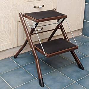 Household Step Stool  Photography Folding Step Stool  Iron Art Folding Pedal Chair Ascend TwoTiered Ladder