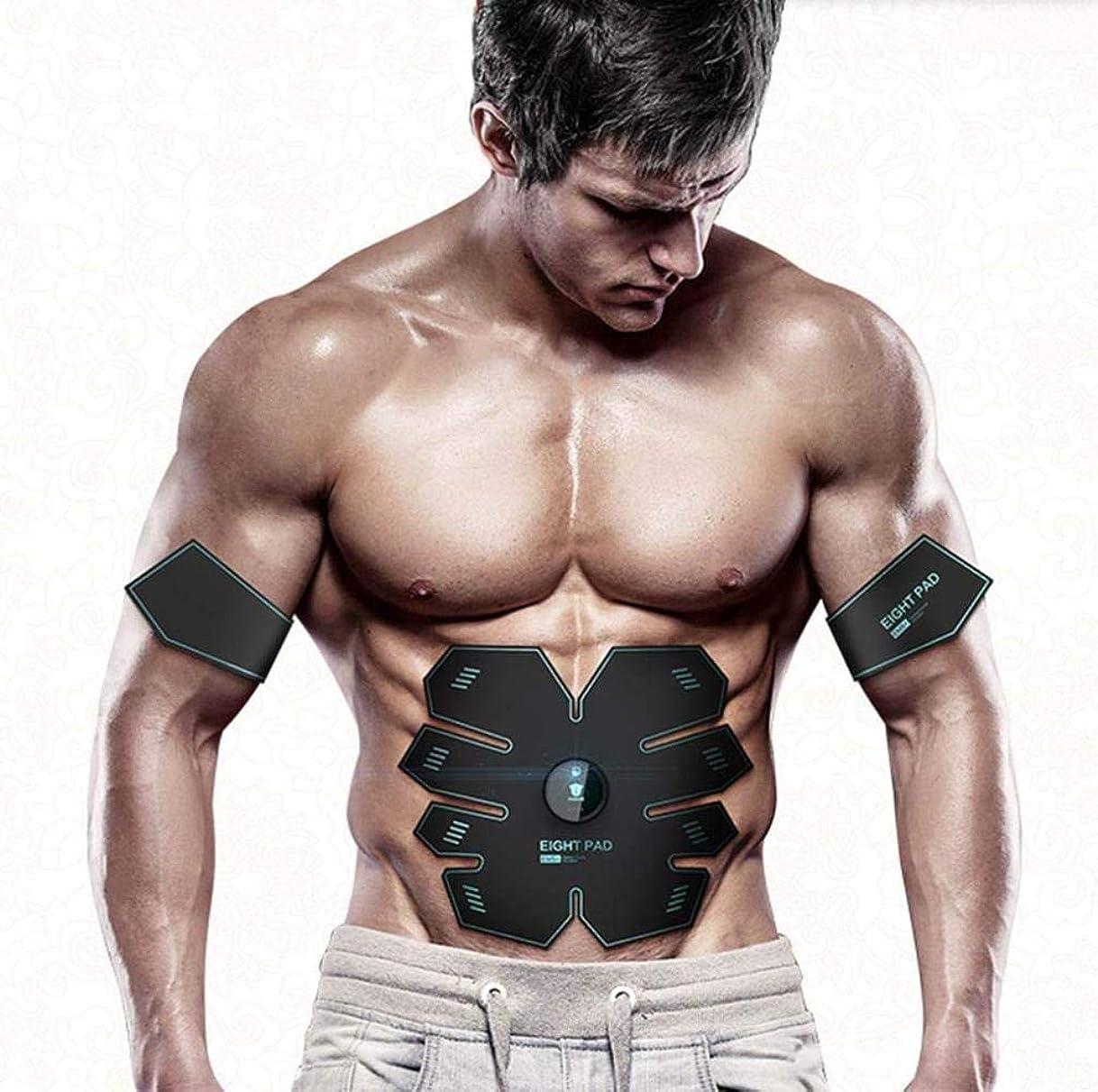 コミットめったに段落KTYXDE 腹筋スティック家族怠惰な運動筋肉トレーナー、ロール腹部マシン薄い腹筋運動腹部機器 - 充電式