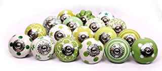 green ceramic knobs