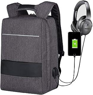 Mochila para Portátil 17,3 Pulgadas, Mbuynow Mochila Antirrobo Mochila Escolar con Puerto de Carga USB Impermeable Backpack para Laptop para Ordenador del Negocio Trabajo Diario Viaje