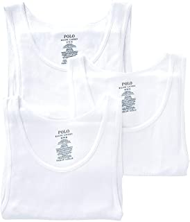 Classic Fit Ribbed Tank with Moisture Wicking 100% Cotton - 3 Pack