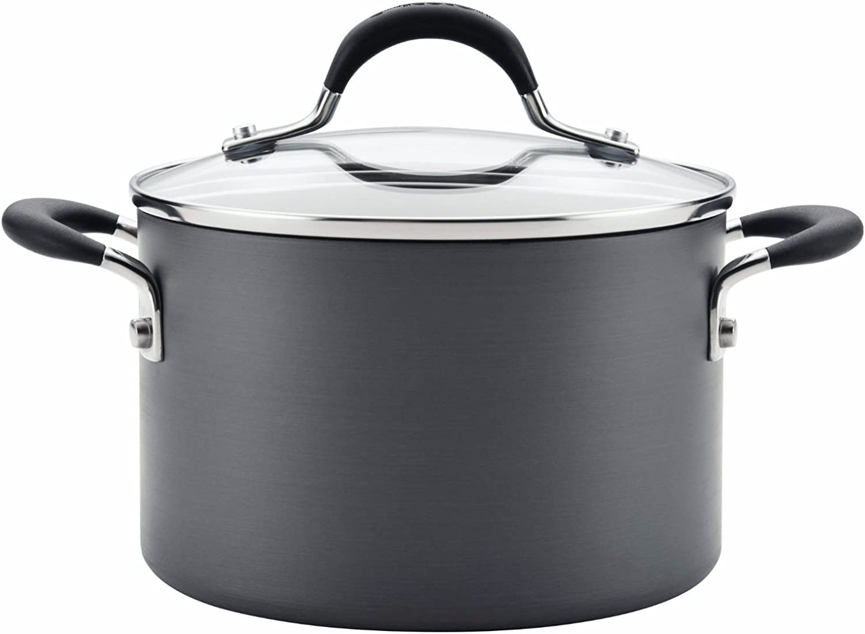 Circulon Momentum Hard-Anodized Non-Stick Covered Sauce Pot,3-Quart