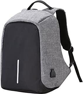 17.3-Inch Laptop Bag, Anti-theft Laptop Backpack With USB Charge Port, Travel Bag for Men Women, Lightweight Business Student Book Bag, Large Capacity Computer Bag For 17 17.3 Inch Notebook - Light Grey
