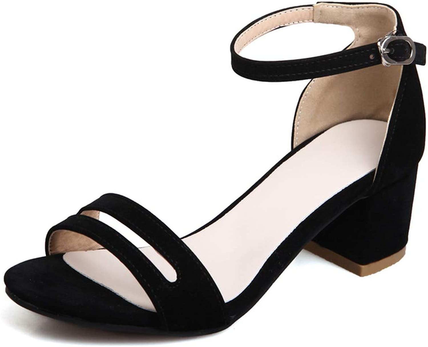 Mo Duo 2019 New Casual Women Sandals high Heels Women shoes Ankle Strap Fashion Ladies Sandals