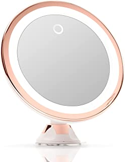 Fancii 10X Magnifying Makeup Mirror with LED Lights - Dimmable True Natural Daylight, USB & Battery, Strong Suction Cup, 2...