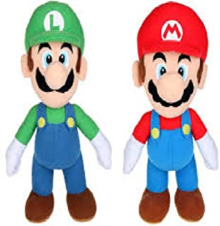 "SET OF 2 8"" Super Mario Bros Luigi & Mario Soft Plush Toy Dolls SIZE 8 "" (YOU WILL RECIEVE 2 FIGURES PER PURCHASE)"