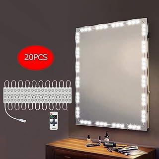 BLOOMWIN LEDミラーライト リモコン付け 調光可能 超輝度 三段調光 ダイナミックモード持つ ドレッサー ライト 省エネ 全長4m 防水レベルIP65 6000k ledランプ60個 化粧台ライト 鏡ライト メイクアップ