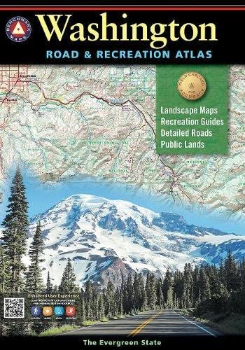 Washington Road and Recreation Atlas Benchmark Road Recreation Atlas product image