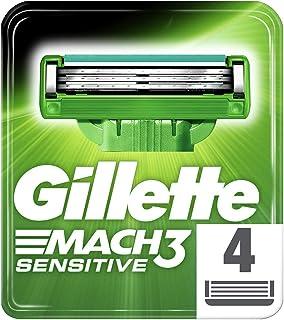 Gillette Mach 3 Sensitive Razor, 4 Cartridge