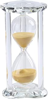 Falytemow 60 Minutes Heart Shape Hourglass Sand Timer Crystal Sand Timer Egg Hourglass for Kitchen Child Brushing Teeth Sc...