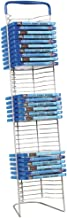 Atlantic Nestable 42 DVD/Blu-Ray/Games Rack - Space Saving Modern Design in High End Gunmetal Finish with Blue Molded Handle, PN63735593