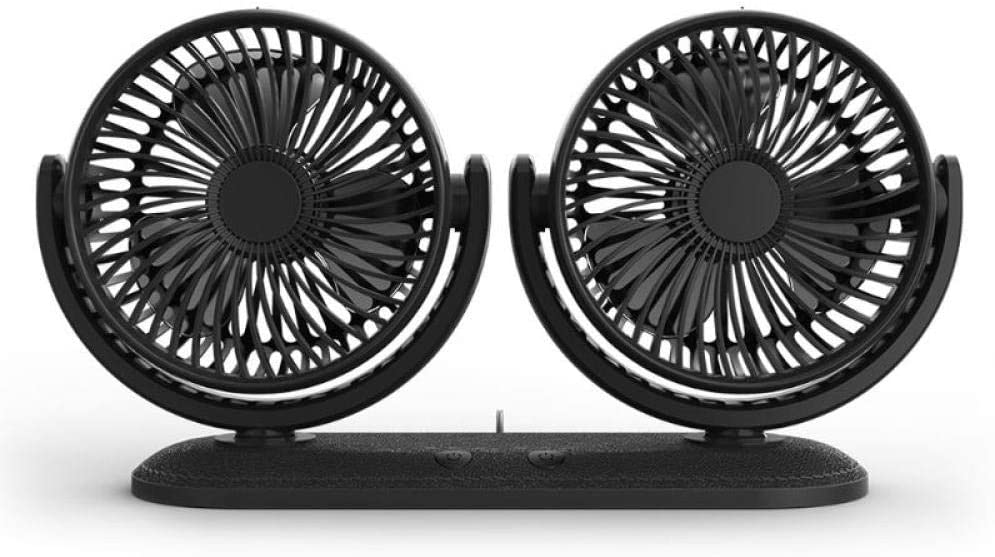 USB Regular store 5V 2A Fan 360 Degree Adjustable Rotatable Head Dual Limited time for free shipping Car