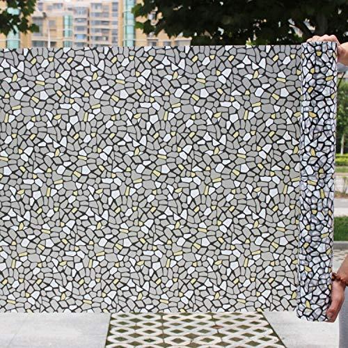 LMKJ Película de Ventana Decorativa autoadhesiva de Vidrio de Grava pequeña de Estilo de Piedra Pegatina de vitral de Vinilo A37 30x100cm