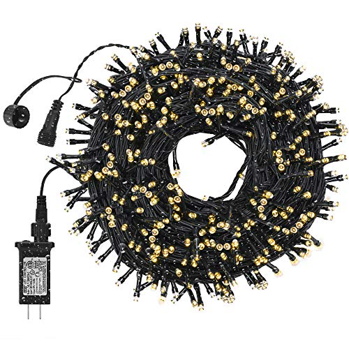 DANLI 300 LED Christmas String Lights Outdoor, 105FT Connectable Fairy Twinkle Light [8 Model/IP65 Waterproof] Indoor Christmas Light, Outside Lights for Xmas Patio Garden Wedding Party
