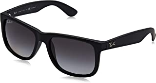 Ray-Ban Justin Classic Sunglasses,55mm,Black Rubber/Polar Grey Gradient
