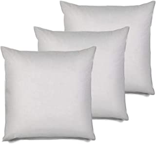 MSD 3 Pack Pillow Insert 26x26 Hypoallergenic Square Form Sham Stuffer Standard White Polyester Decorative Euro Throw Pillow Inserts for Sofa Bed - Made in USA (Set of 3) - Machine Washable and Dry