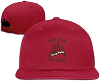 Unisex Made In 1991 Awesome 25th Birthday Ajustable Snapback Flat Cap