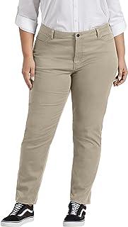 Dickies Women's Plus Size Perfect Shape Twill Skinny 4 Pocket Pant