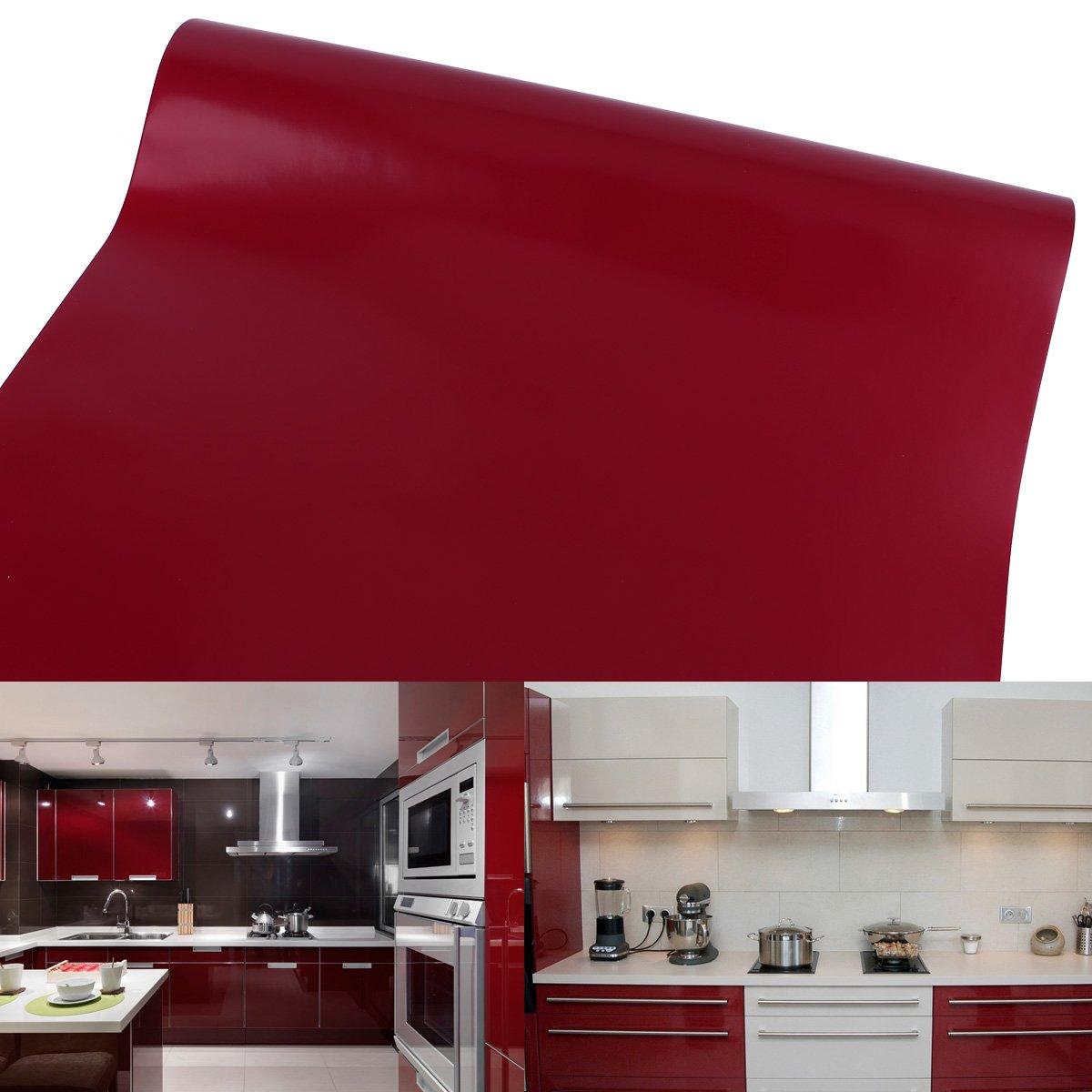 61 cm Rollo – 10 M (Metro) Rojo auto-adhesivos Muebles pantalla para manualidades pantalla pantalla para plotter Armario pantalla decorativo pantalla pantalla: Amazon.es: Hogar
