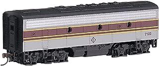 Bachmann Industries EMD F7-B Diesel Locomotive DCC Equipped Erie Lackawanna Train Car, Gray/Maroon, N Scale