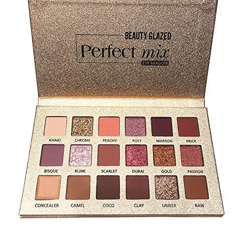 Paleta Profesional De Sombra 18 Colores Sombra De Ojos Powder Make Up Waterproof