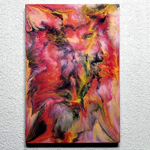 ORIGINAL Harz Gemälde Resin Kunst Abstrakte Malerei Bild Modern Art HANDGEMALT - hochglanz Wandbilder direkt vom Künstler F.H. - Wohnung Deko Wohnzimmer - Werksnummer: Re 049
