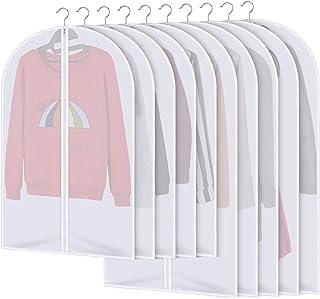 AIDBUCKS Housses à Vêtements Imperméable Protection Etanche Chemise Costume Vêtement Anti-poussière PEVA Chemise Transpare...