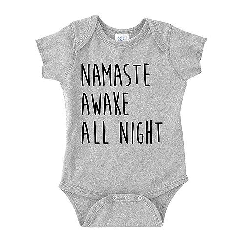 11dd76d247b3 Namaste Awake All Night Baby One Piece or Toddler T-Shirt