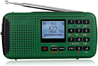 Emergency Radio Solar Hand Crank Radio Weather Radio for Emergency with AM/FM, SOS Alert and Clock