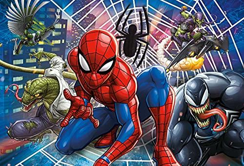 Clementoni Supercolor Puzzle-Spider Man-60 pezzi Maxi, Multicolore, 26444