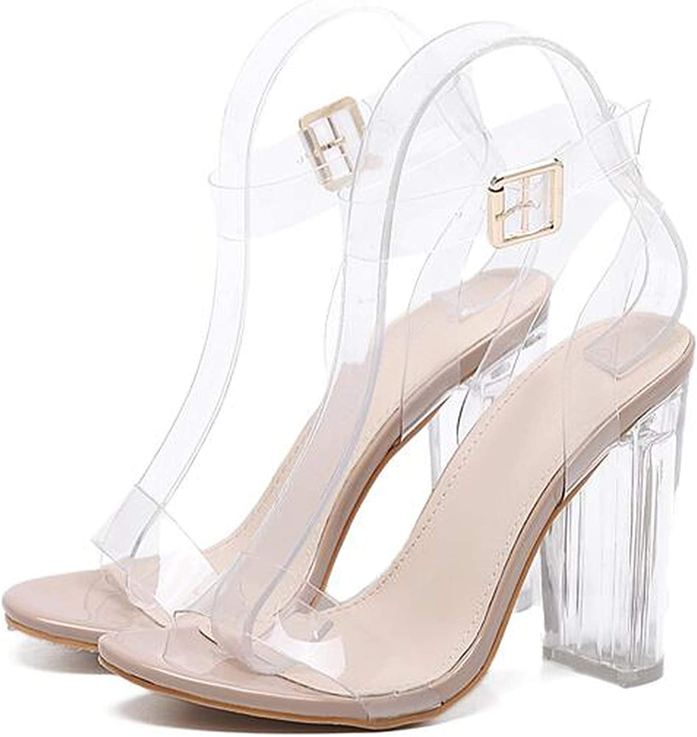 Sensitives 2019 PVC Jelly Sandals Crystal Leopard Open Toed High Heels Women Transparent Heel Sandals Slippers