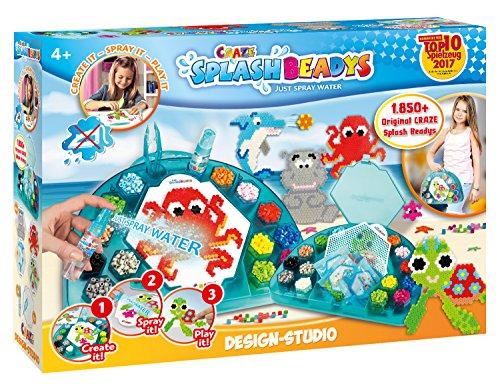 Craze 58528 Bügelperlen ohne Bügeln Tiere Splash Beadys Design Studio, mit Perlen und Zubehör