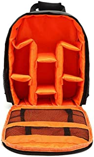 OZSTOCK® Waterproof DSLR SLR Camera Soft Case Bag Backpack Rucksack for Canon Nikon Sony (Orange)