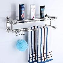 Handdoekenrek, Rvs Badkamer Handdoek Houder, Douche Caddy Mand Organizer, Badkamer Plank Met Rail, Wandmontage Badkamer Ha...