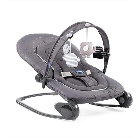 Chicco - Hooplà, 79840770000, Amaca per bebè da 0 mesi a 18 kg, grigio (Moon Grey)