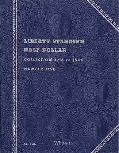 "1916-1936 LIBERTY STANDING HALF DOLLAR ""Whitman"" 35 COIN TRIFOLD WHITMAN No 9021 COIN; ALBUM, BINDER, BOARD, BOOK, CARD, COLLECTION, FOLDER, HOLDER, PAGE, PORTFOLIO, PUBLICATION, SET, VOLUME"