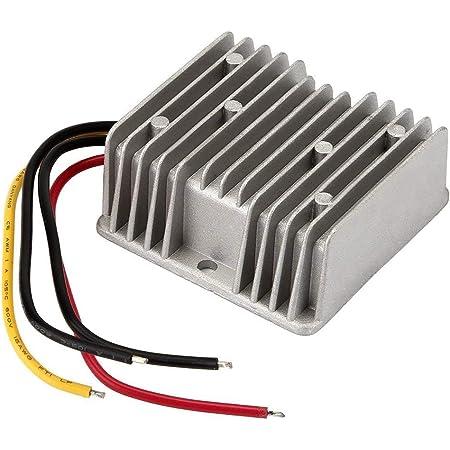 BTF-LIGHTING 50W DC-DC Reductor de Voltaje Impermeable Regulador Buck convertidor 12V/24V a 5V 10A para Carro de Golf Audio Fuente de alimentación 3014 5630 Tira de luz LED