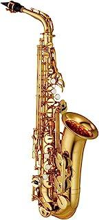 Yamaha YAS-480 Intermediate Eb Alto Saxophone، Gold Finish
