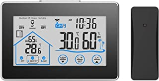 Weather Station with Outdoor Sensor Digital Thermometer Hygrometer Station,Weather ForecastIndoor for Inside and Outside B...