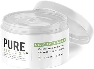 Premium Bentonite Clay Mask – Clinically Proven NaturePep Pea, Collagen, Natural Alpha Hydroxy Acids & Vitamin A, B, C, E ...