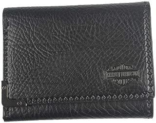 Men's Gunmetal Bar & Shield Leather Tri-Fold Wallet GM6549L-BLK