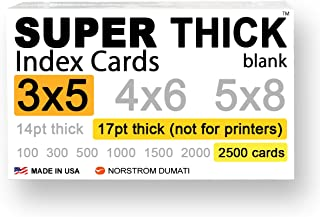 2,500 SUPER THICK index cards / 3