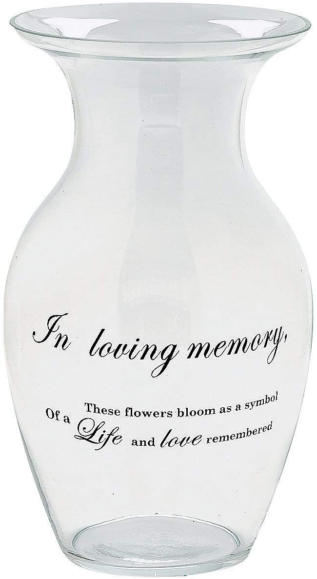 in Loving Memory Glass Memorial - Manufacturer OFFicial shop Vase Challenge the lowest price Funeral Flower