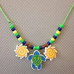 Surf Shack Turtle Beaded Necklace Kit for Surf Shack VBS - Vacation Bible School Craft
