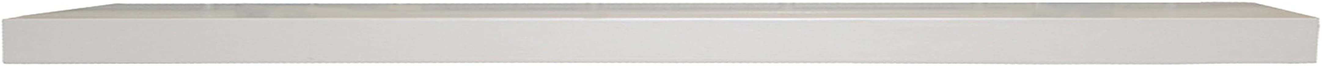 InPlace Shelving 60 in W x 8 in D x 1.25 in H Slimline Floating Wall Shelf with Invisible Brackets, White 9084672, x x