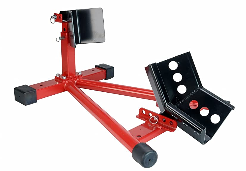 Dragway Tools 1500 lb Fully Adjustable Motorcycle Wheel Chock Stand fits 16