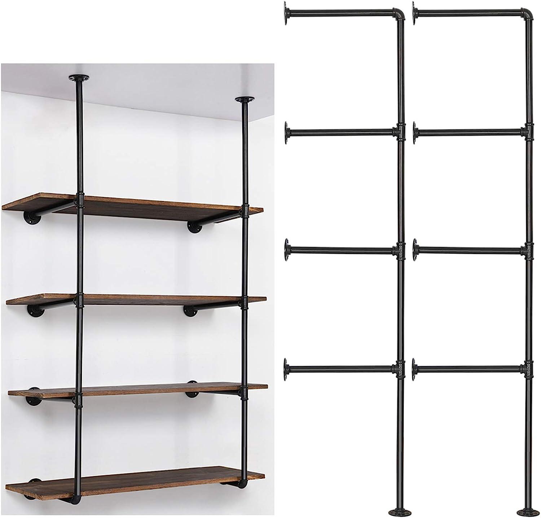 LIANTRAL Industrial Wall Mount Iron Shelf Pipe Bookshe Financial sales sale Ranking TOP13 DIY Open