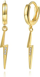 Liara Filigree Drop Plain Ear Studs Sterling Silver 925 Polished And Nickel Free