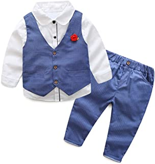 Toddler Little Infant Boys' Dressy 3 Pieces Cotton Clothes Set