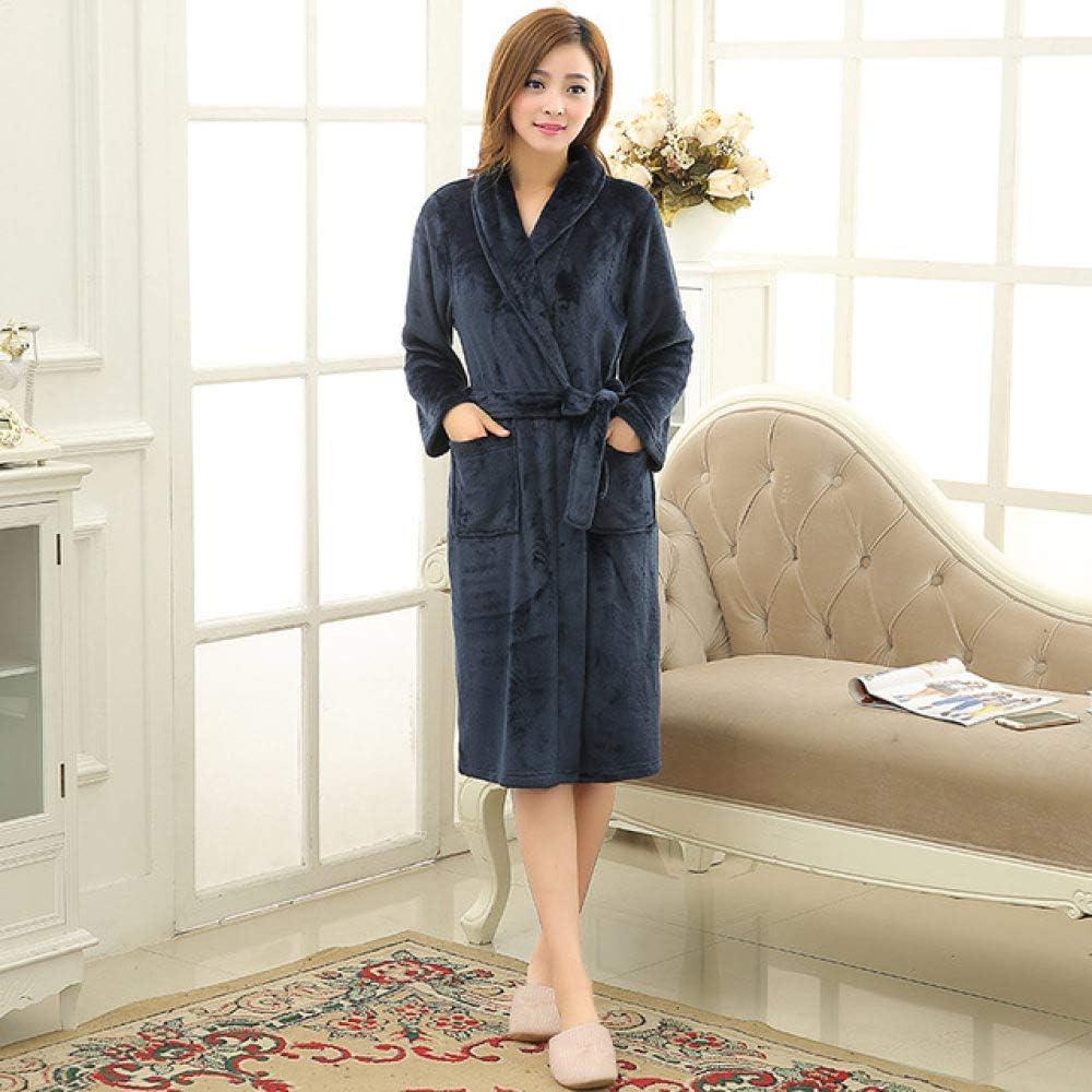 SDCVRE 25% OFF Winter Bathrobe Industry No. 1 Lovers Luxury Silk Flannel Ba Long